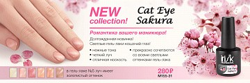 Irisk, Sakura Cat Eye - гель-лак (№06), 10 гр
